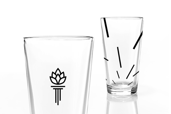 Torch and Crown Brewing Company Glasses